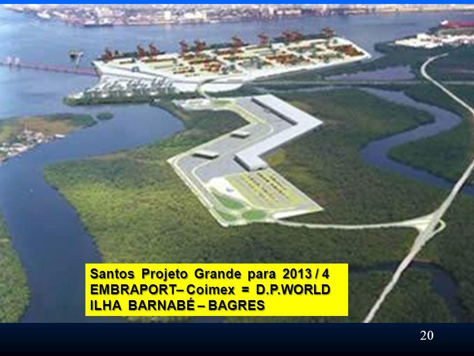 Santos Projeto Grande para 2013 / 4 EMBRAPORT– Coimex = D.P.WORLD ILHA BARNABÉ – BAGRES 20