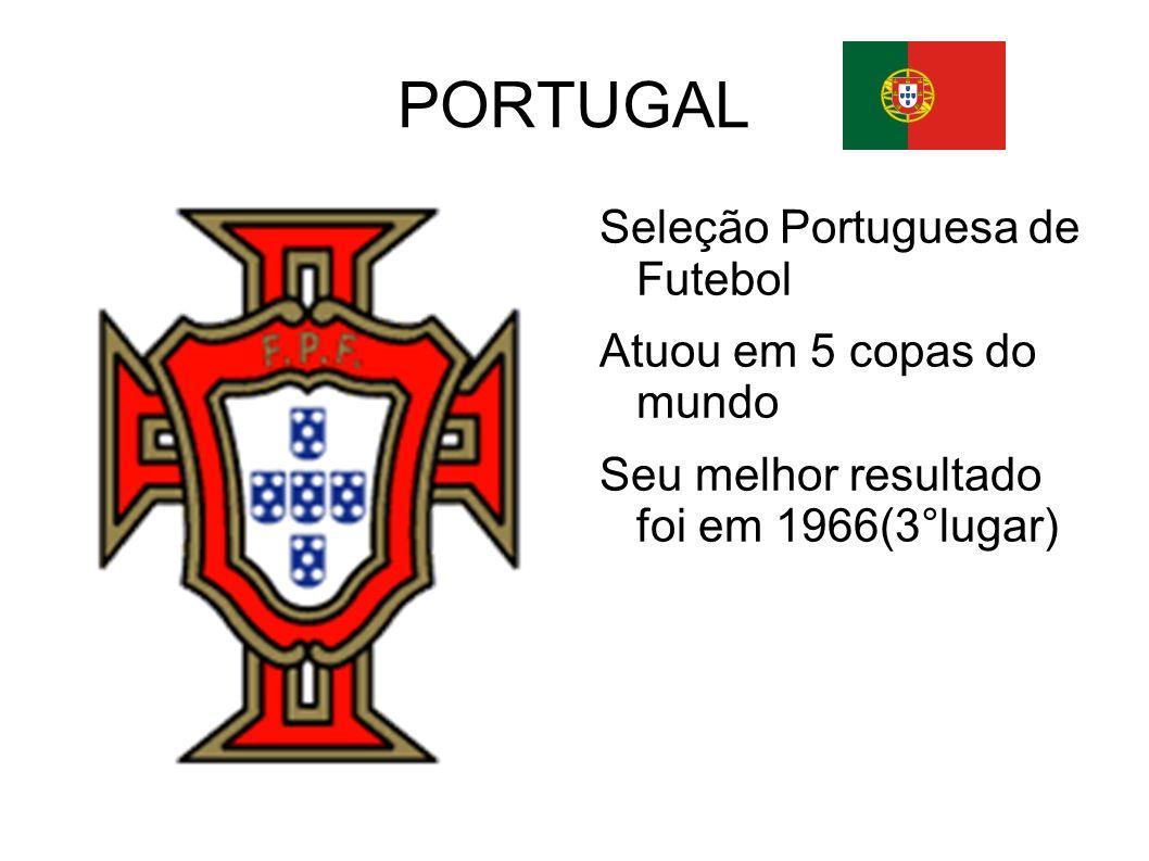PORTUGAL Seleção Portuguesa de Futebol Atuou em 5 copas do mundo Seu melhor resultado foi em 1966(3°lugar)