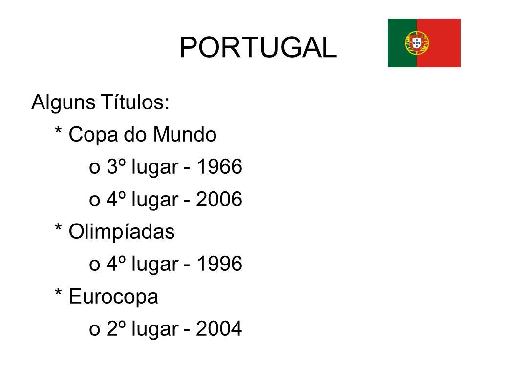 PORTUGAL o 3º lugar - 2004 * Europeu de Futebol Sub-17 o 2º lugar - 1988 * Campeonato do Mundo de Futebol de Praia o 1º lugar - 2001 o 2º lugar - 1999, 2002, 2005 o 3º lugar - 2003, 2004, 2008 o 4º lugar - 2006
