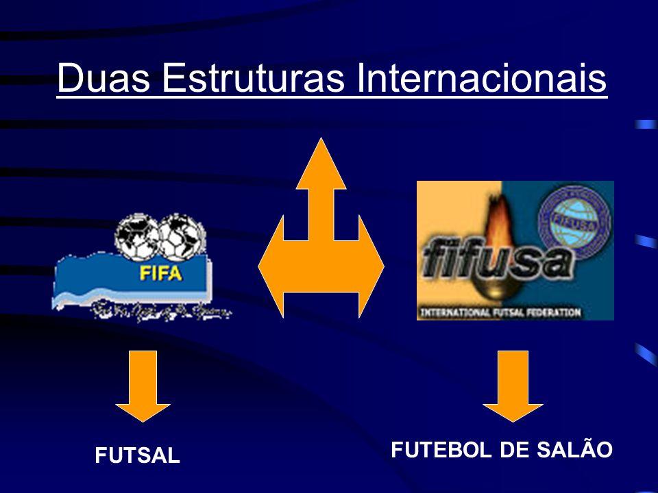 Duas Estruturas Internacionais FUTSAL FUTEBOL DE SALÃO