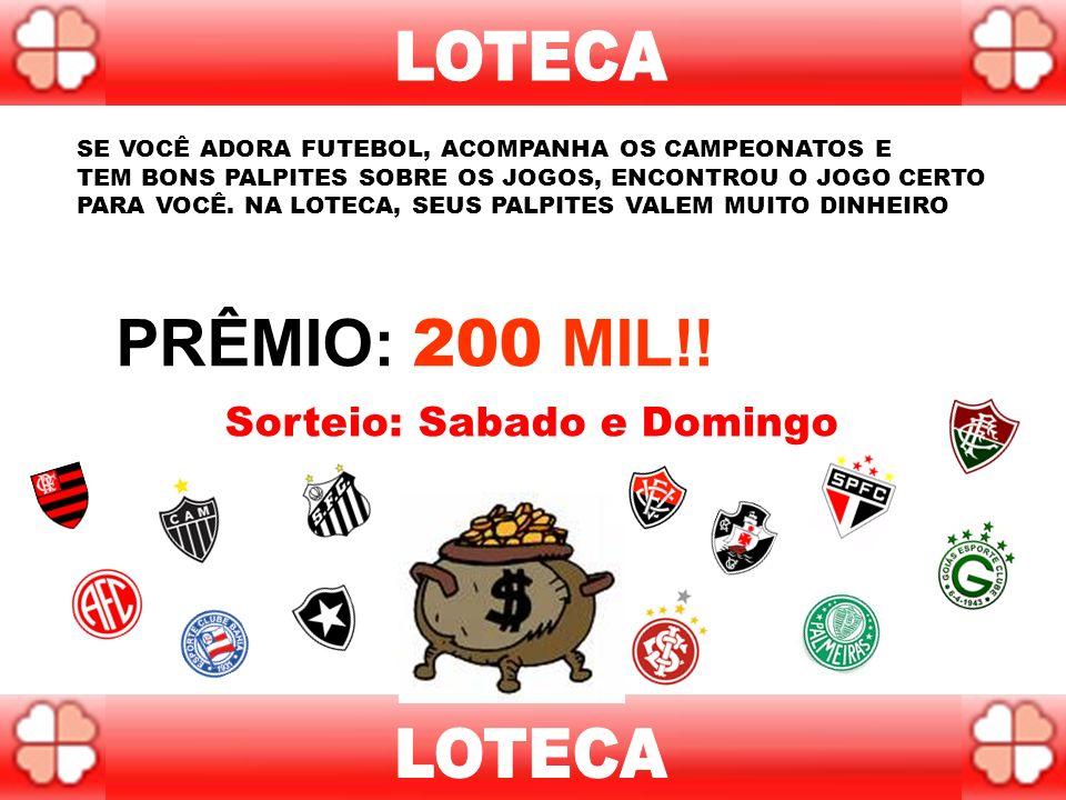 Na Lotogol, a cada concurso, você dá palpites sobre o placar de 5 partidas de futebol. Se você acertar todos os resultados, ganha. Se acertar o placar