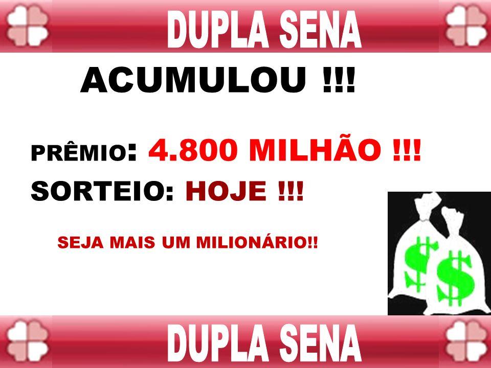 PRÊMIO: 9.500 MILHÕES !!! Sorteio: QUARTA BOA SORTE!!