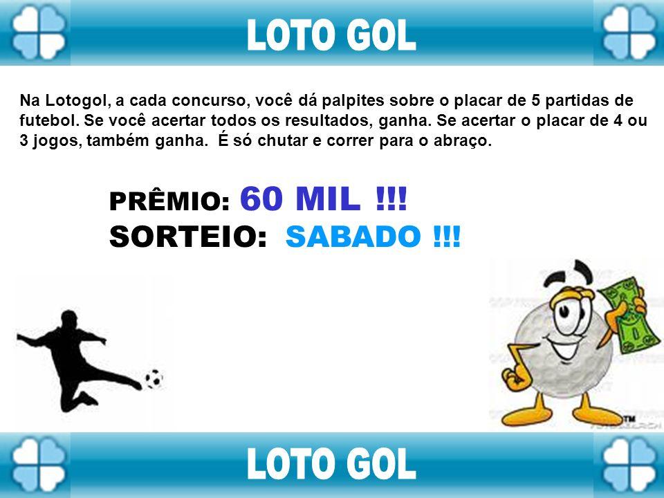 Chegou a Nova Loteria Instantânea da Caixa com o maior prêmio instantâneo do Brasil. Você aposta 1,2 ou 3 reais e pode ganhar 60, 200 e até 600 Mil re