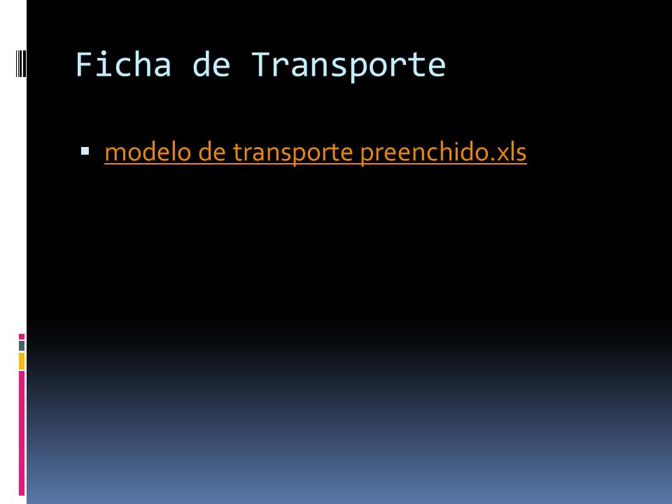Ficha de Transporte modelo de transporte preenchido.xls