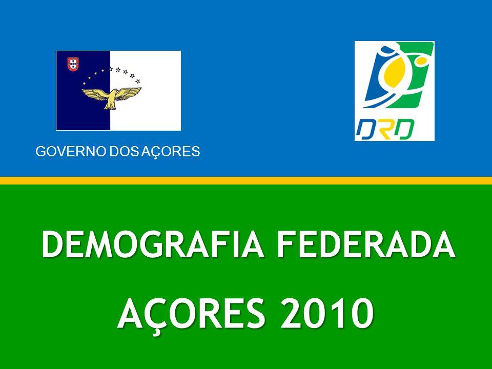 DEMOGRAFIA FEDERADA AÇORES 2010 GOVERNO DOS AÇORES