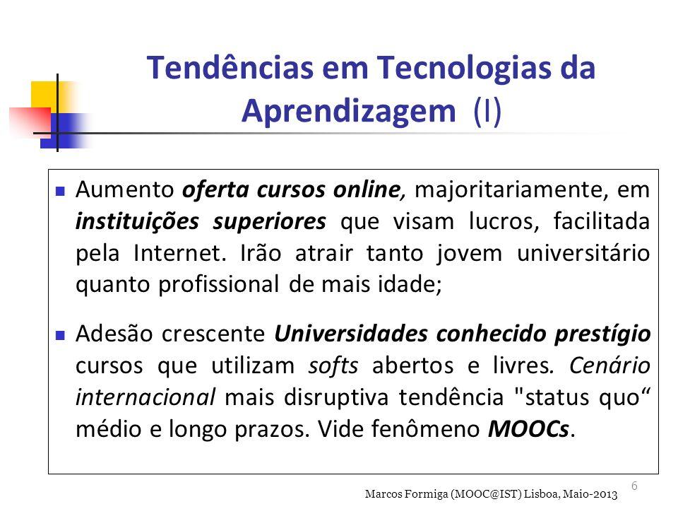 6 Aumento oferta cursos online, majoritariamente, em instituições superiores que visam lucros, facilitada pela Internet.