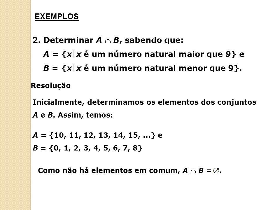 a) Inicialmente, vamos determinar os elementos pertencentes a cada conjunto.