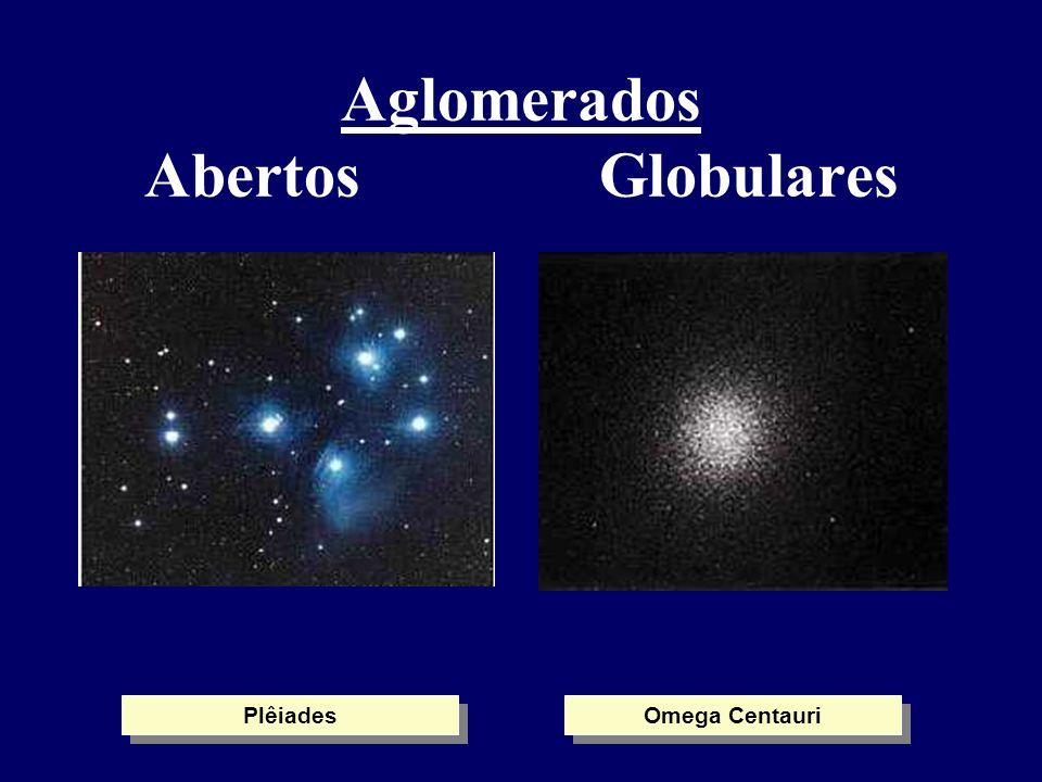 Aglomerados Abertos Globulares Omega Centauri Plêiades