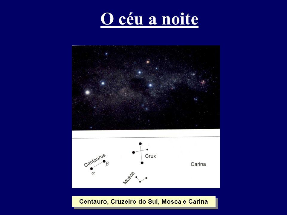 O céu a noite Centauro, Cruzeiro do Sul, Mosca e Carina