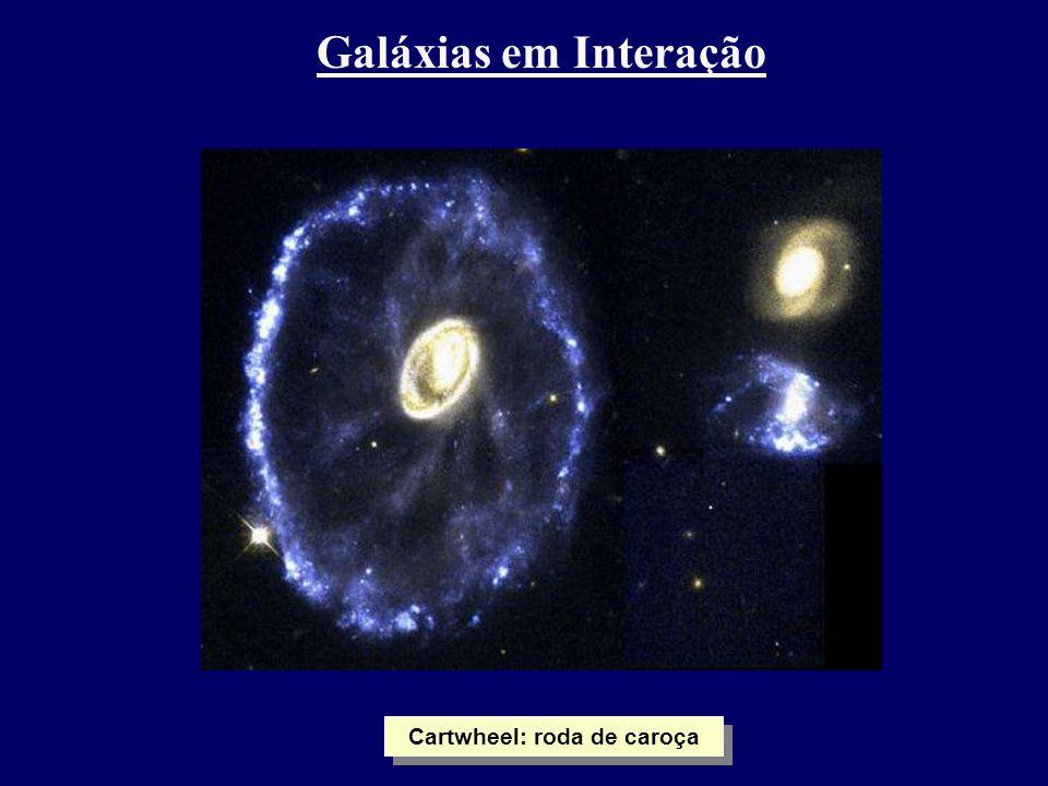 Galáxias em Interação Cartwheel: roda de caroça