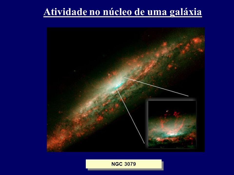 Atividade no núcleo de uma galáxia NGC 3079