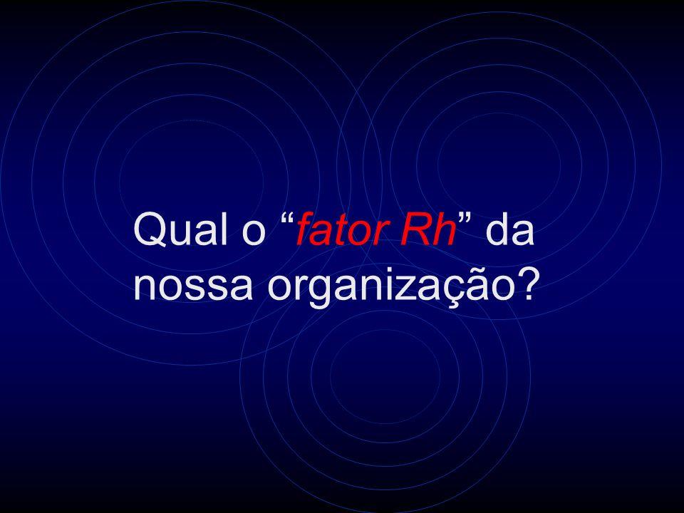 Qual o fator Rh da nossa organização?