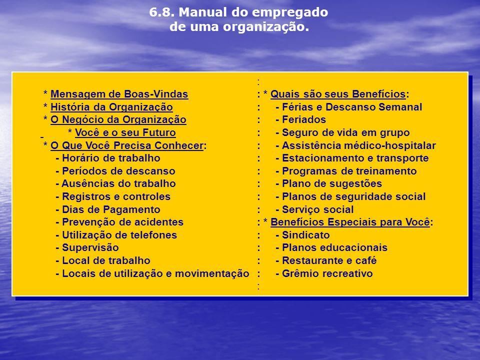 6.8. Manual do empregado de uma organização.