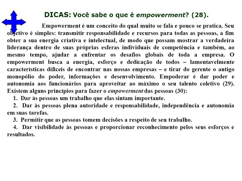 DICAS: Você sabe o que é empowerment. (28).