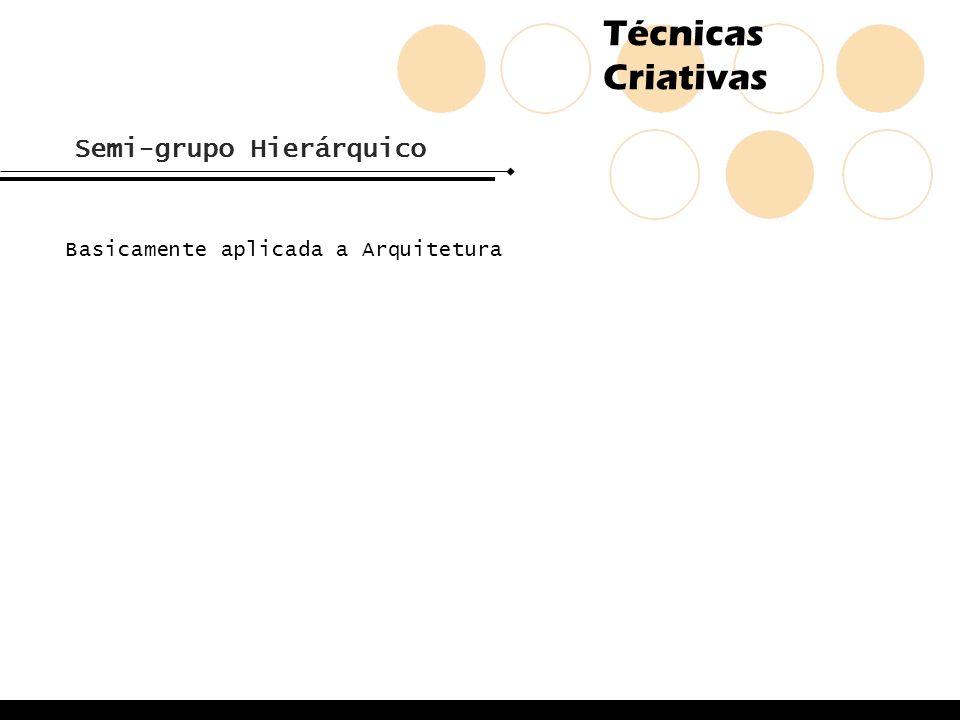 Técnicas Criativas Semi-grupo Hierárquico Basicamente aplicada a Arquitetura