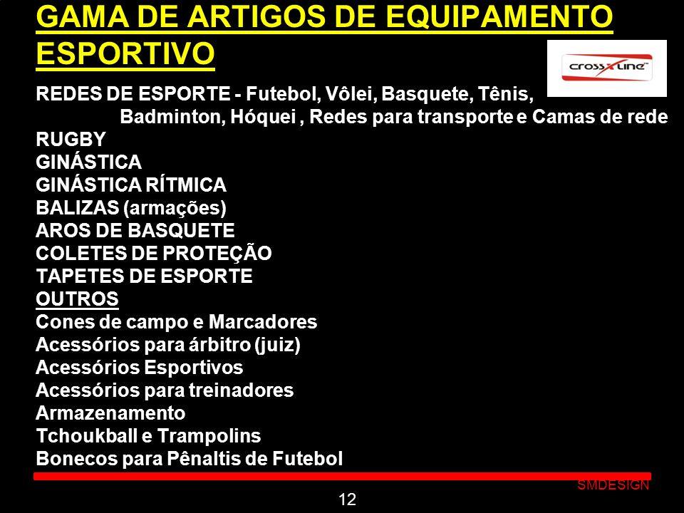Click to edit Master subtitle style SMDESIGN GAMA DE ARTIGOS DE EQUIPAMENTO ESPORTIVO REDES DE ESPORTE - Futebol, Vôlei, Basquete, Tênis, Badminton, H