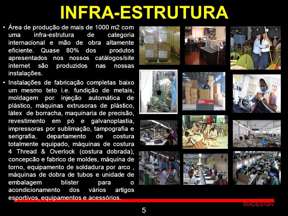 Click to edit Master subtitle style SMDESIGN INFRA-ESTRUTURA Área de produção de mais de 1000 m2 com uma infra-estrutura de categoria internacional e