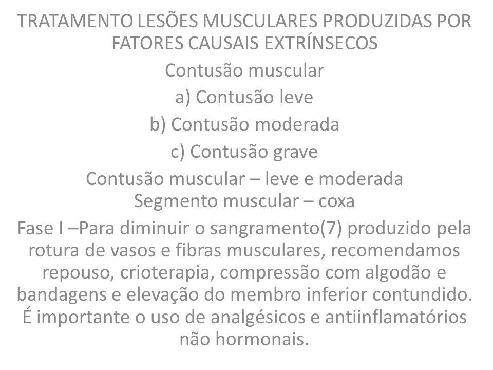 As injúrias musculares traumáticas estão muito relacionadas à prática de esportes e respondem aproximadamente por 10% a 30% de todas as lesões do sistema músculo-esquelético em atletas (1), sendo as lesões mais comumente negligenciadas ou pouco valorizadas nesta área (3).