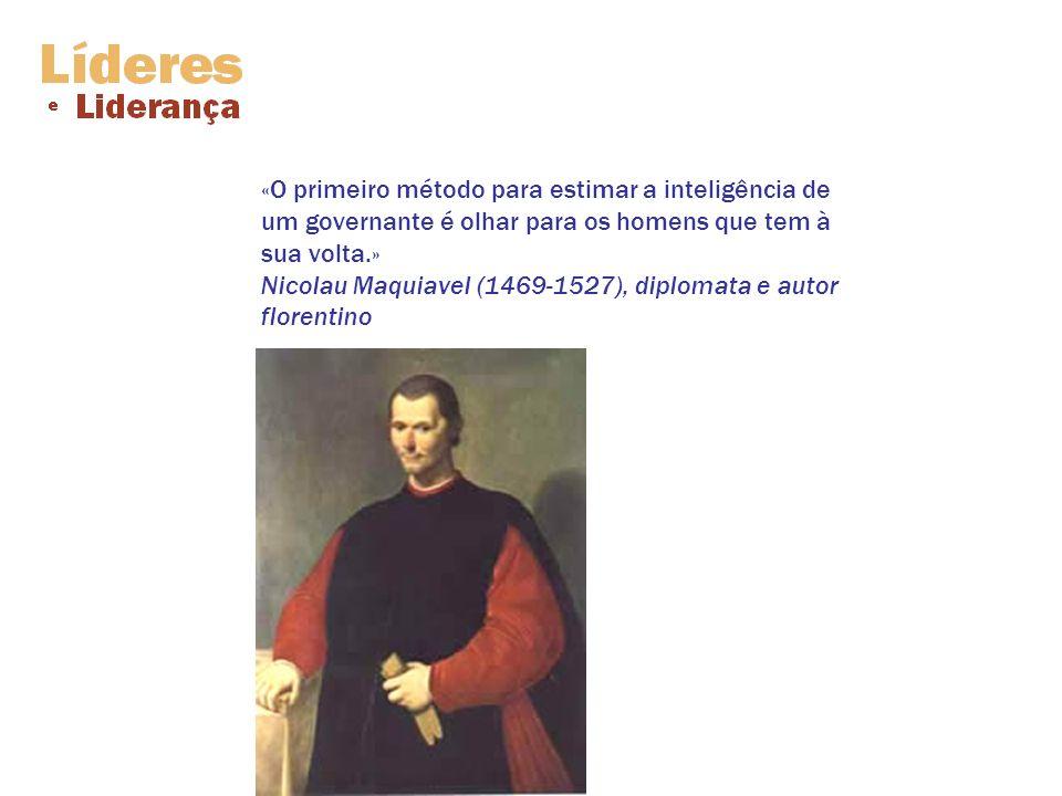 «O primeiro método para estimar a inteligência de um governante é olhar para os homens que tem à sua volta.» Nicolau Maquiavel (1469-1527), diplomata