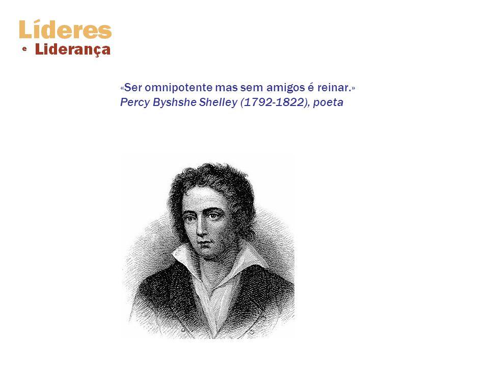 «Ser omnipotente mas sem amigos é reinar.» Percy Byshshe Shelley (1792-1822), poeta
