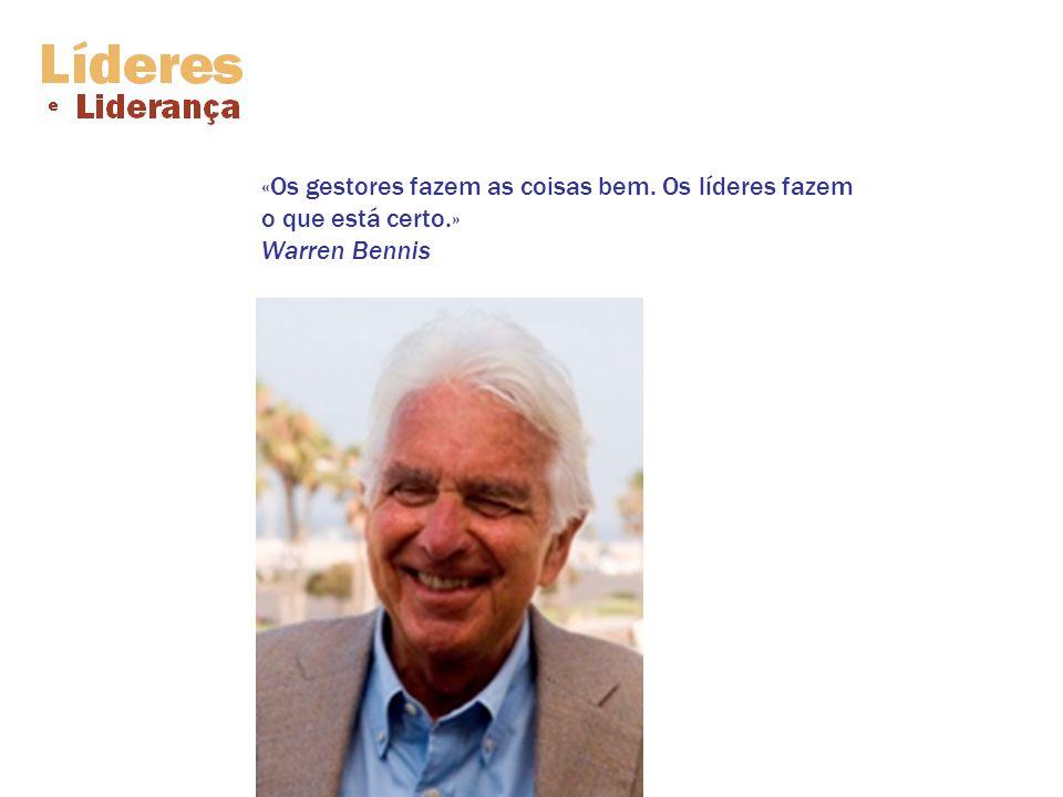 «O novo líder é aquele que envolve as pessoas na acção, que transforma seguidores em líderes, e que pode transformar os líderes em agentes de mudança.» Warren Bennis