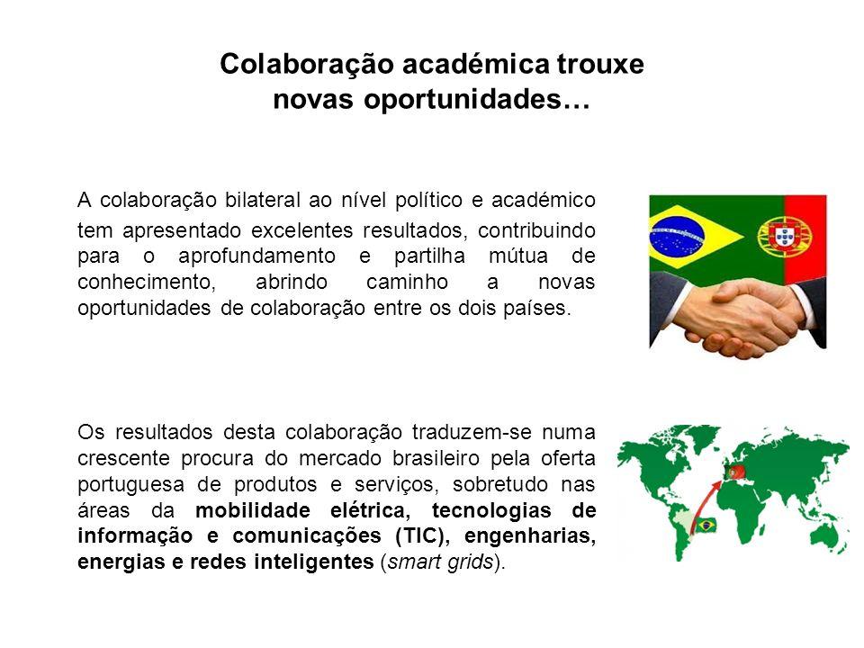 Colaboração académica trouxe novas oportunidades… A colaboração bilateral ao nível político e académico tem apresentado excelentes resultados, contrib
