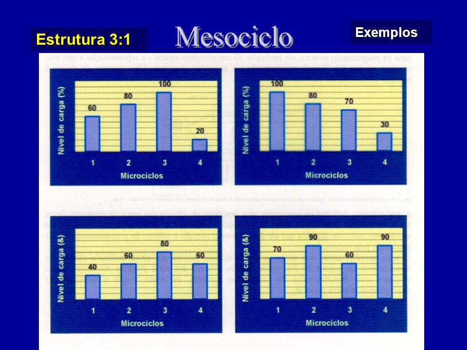 P.C. de duração longa (> 12 semanas): - Microciclo competitivo padrão / carga uniforme - Mesociclos definidos em função de planos estatégicos e/ou dat