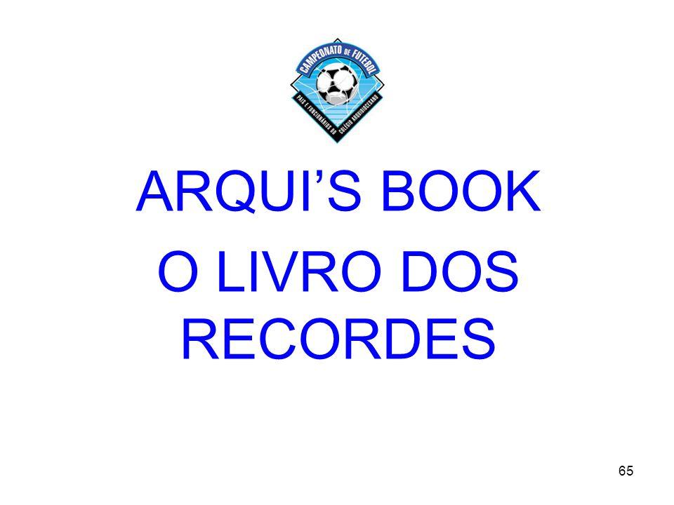 65 ARQUIS BOOK O LIVRO DOS RECORDES