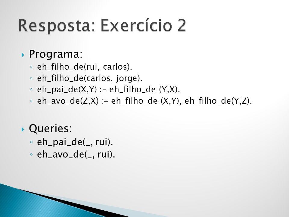 Programa: eh_filho_de(rui, carlos).eh_filho_de(carlos, jorge).