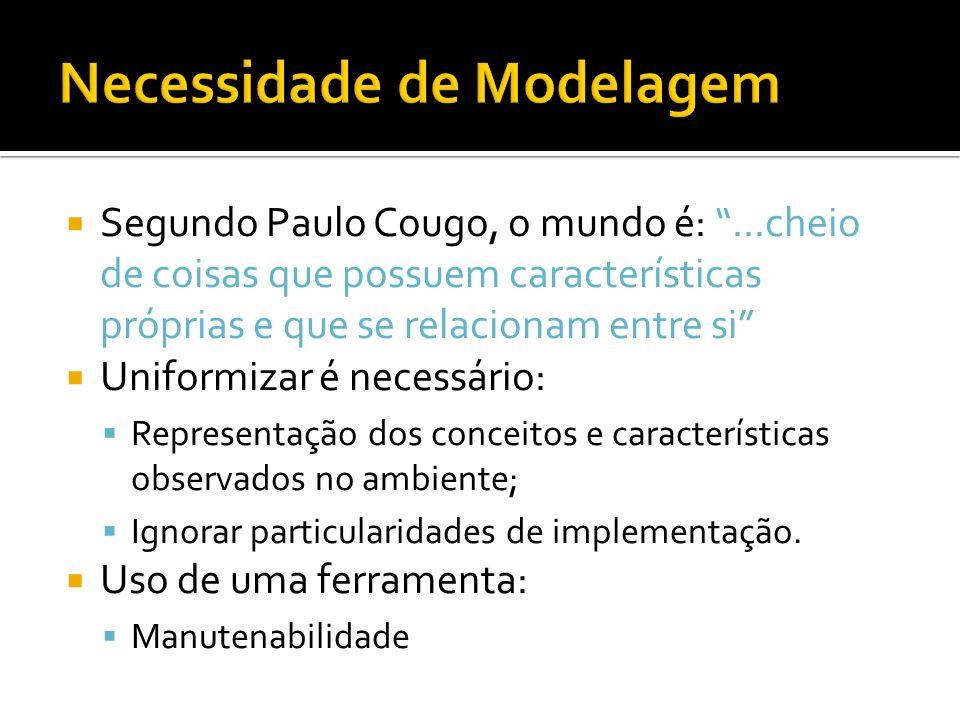 Segundo Paulo Cougo, o mundo é:...cheio de coisas que possuem características próprias e que se relacionam entre si Uniformizar é necessário: Represen