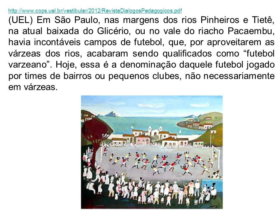 http://www.cops.uel.br/vestibular/2012/RevistaDialogosPedagogicos.pdf (UEL) Em São Paulo, nas margens dos rios Pinheiros e Tietê, na atual baixada do