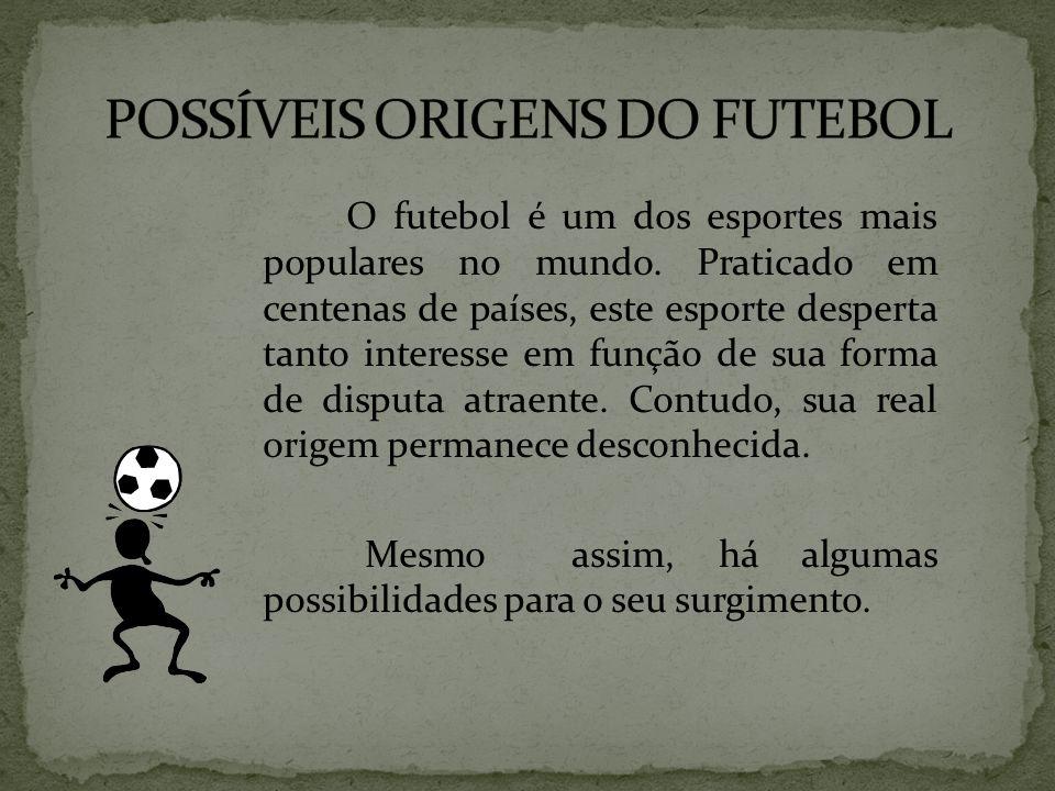 O futebol é um dos esportes mais populares no mundo. Praticado em centenas de países, este esporte desperta tanto interesse em função de sua forma de