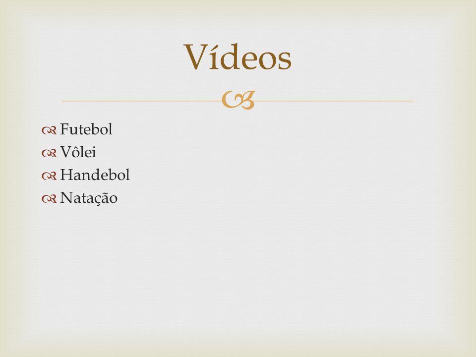 Futebol Vôlei Handebol Natação Vídeos