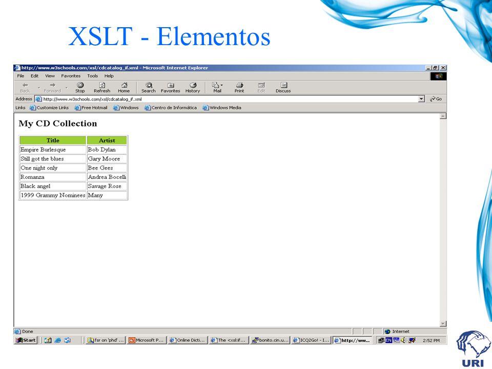 XSLT - Elementos