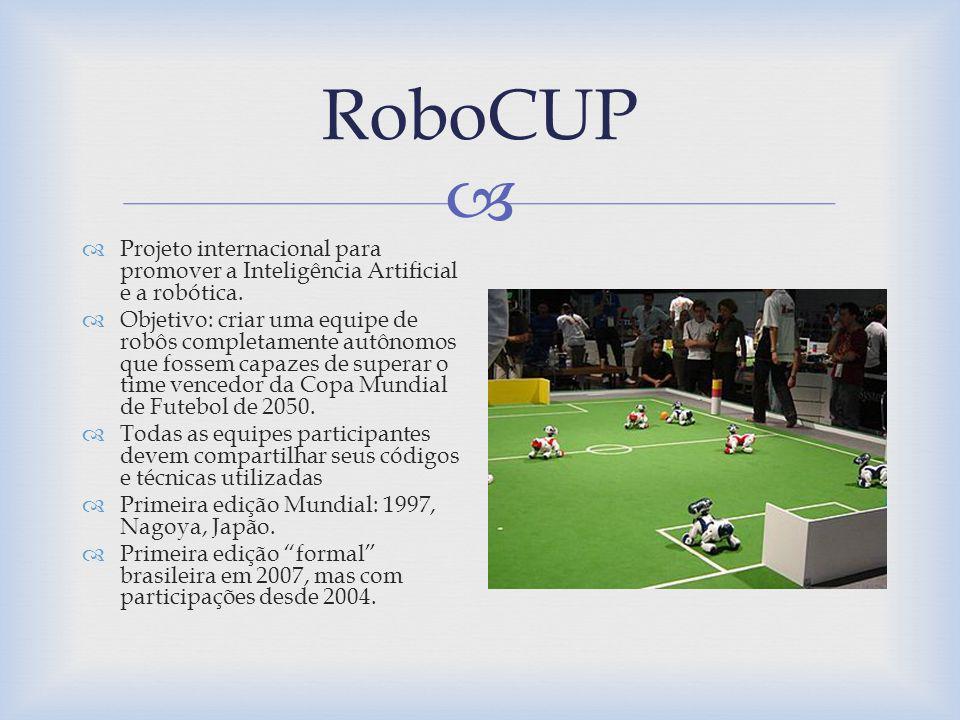 RoboCUP Projeto internacional para promover a Inteligência Artificial e a robótica.