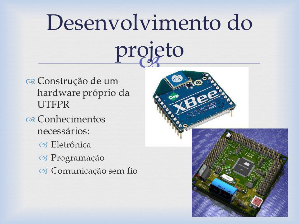 Desenvolvimento do projeto Construção de um hardware próprio da UTFPR Conhecimentos necessários: Eletrônica Programação Comunicação sem fio