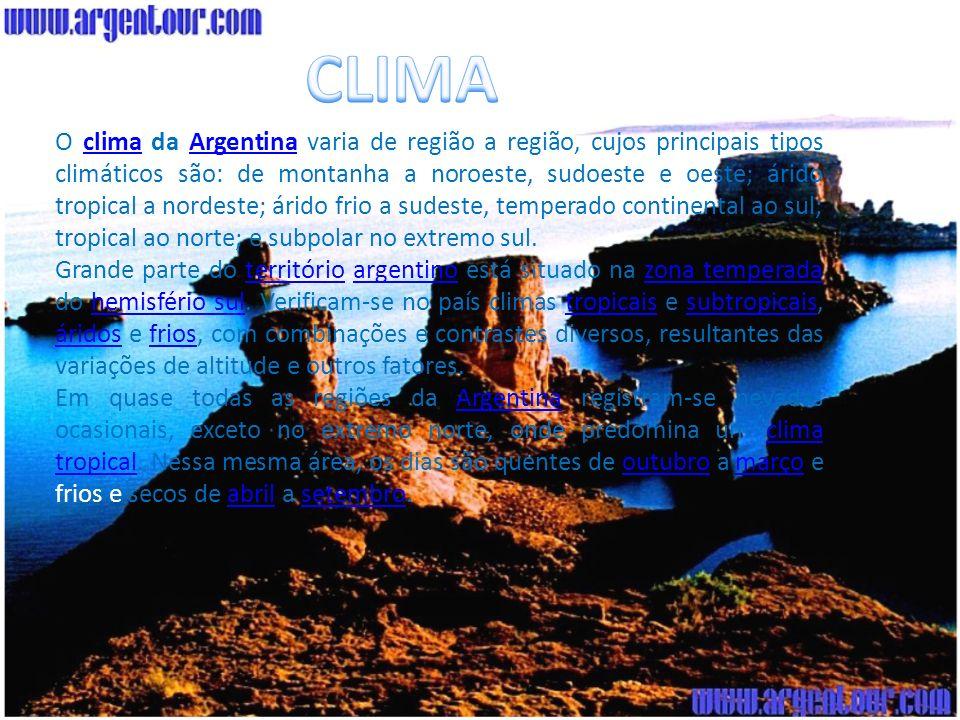 A Vegetação da Argentina é muito diversificada com destaque para a fauna da região, ambos aspectos naturais diretamente determinados pelas correspondentes diferenças de clima, solo e outras condições materiais.