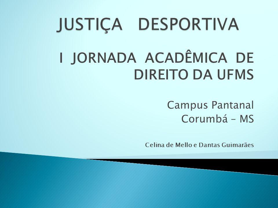 I JORNADA ACADÊMICA DE DIREITO DA UFMS Campus Pantanal Corumbá – MS Celina de Mello e Dantas Guimarães