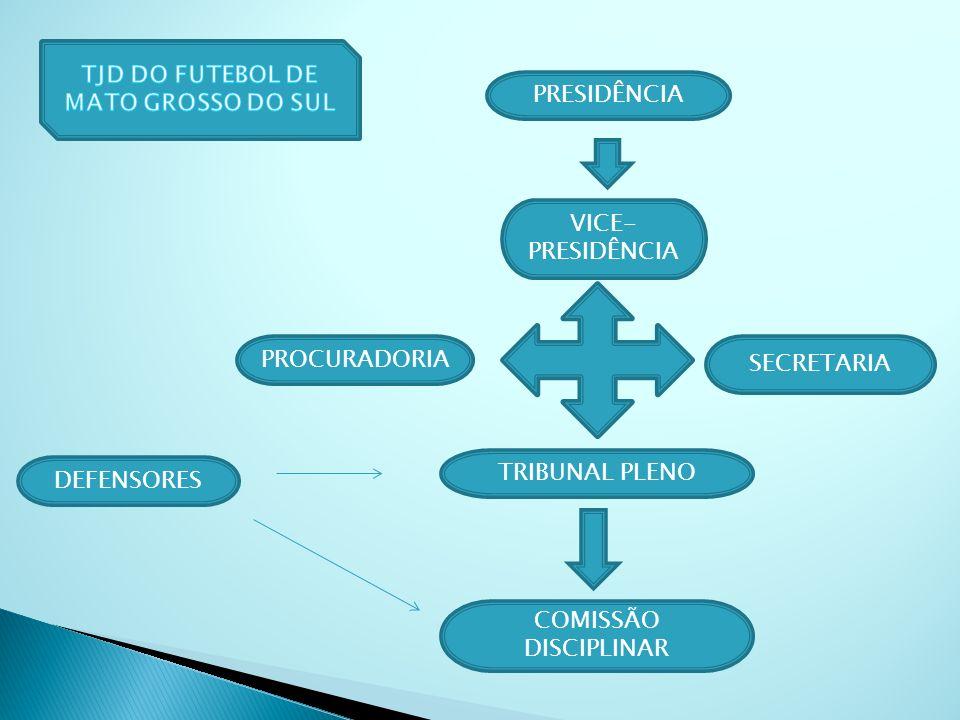 PRESIDÊNCIA VICE- PRESIDÊNCIA PROCURADORIA SECRETARIA TRIBUNAL PLENO COMISSÃO DISCIPLINAR DEFENSORES