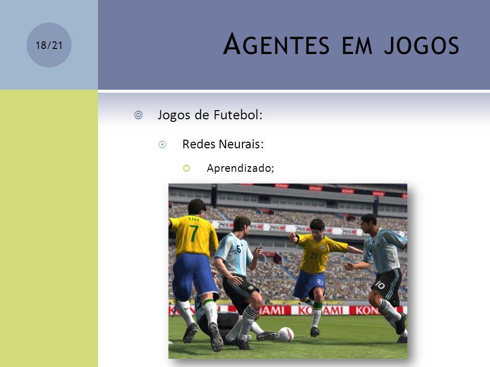 A GENTES EM JOGOS Jogos de Futebol: Redes Neurais: Aprendizado; 18/21