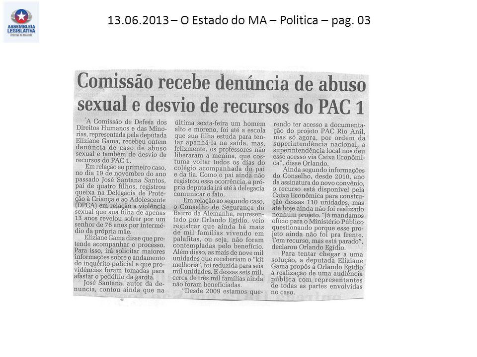 13.06.2013 – O Imparcial – Política – pag. 02