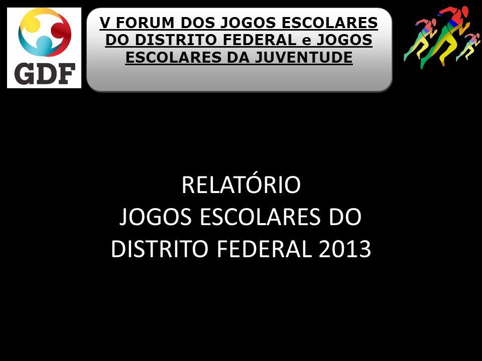 RELATÓRIO JOGOS ESCOLARES DO DISTRITO FEDERAL 2013