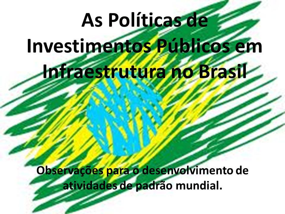 Brasil: geografia e população Território: 8,5 milhões de Km2 194 milhões de habitantes (IBGE - 2012) – 84% urbana; multiétnica República Federativa: – 26 Estados + Distrito Federal – 5 Regiões – 5.565 municípios 6ª maior economia do mundo (USD PPP/2011)