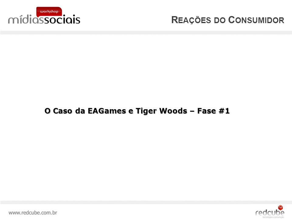 R EAÇÕES DO C ONSUMIDOR O Caso da EAGames e Tiger Woods – Fase #1