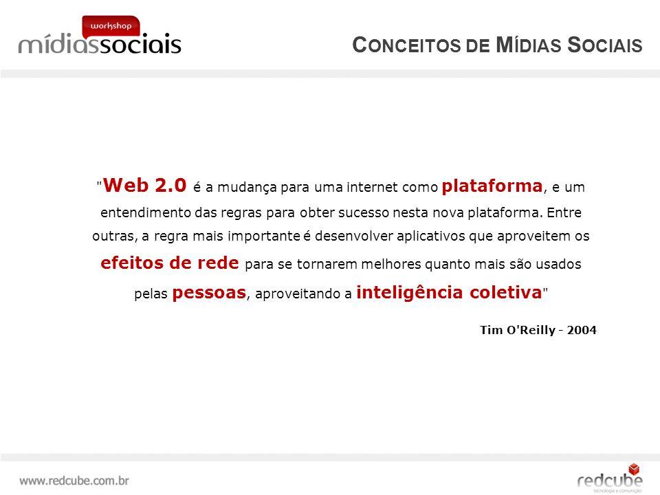Web 2.0 é a mudança para uma internet como plataforma, e um entendimento das regras para obter sucesso nesta nova plataforma.