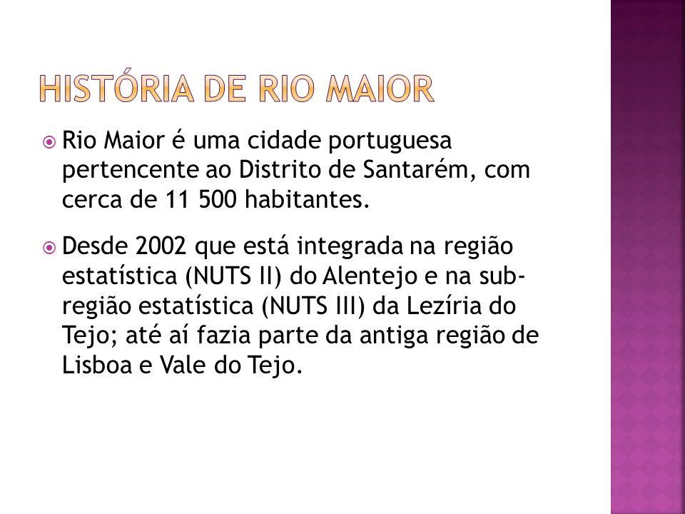 Rio Maior é uma cidade portuguesa pertencente ao Distrito de Santarém, com cerca de 11 500 habitantes. Desde 2002 que está integrada na região estatís