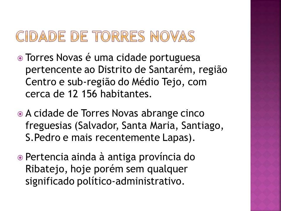 Torres Novas é uma cidade portuguesa pertencente ao Distrito de Santarém, região Centro e sub-região do Médio Tejo, com cerca de 12 156 habitantes. A