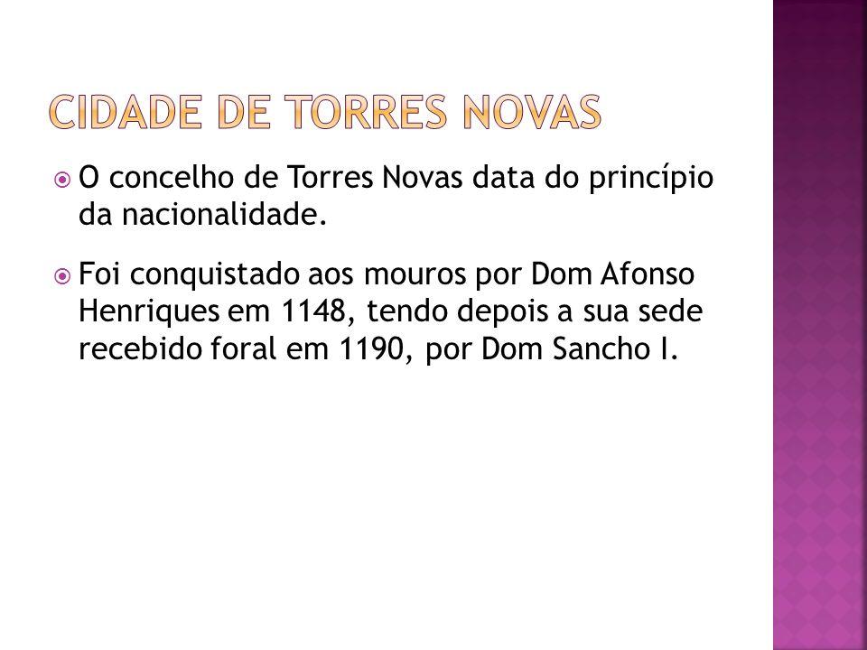 O concelho de Torres Novas data do princípio da nacionalidade. Foi conquistado aos mouros por Dom Afonso Henriques em 1148, tendo depois a sua sede re