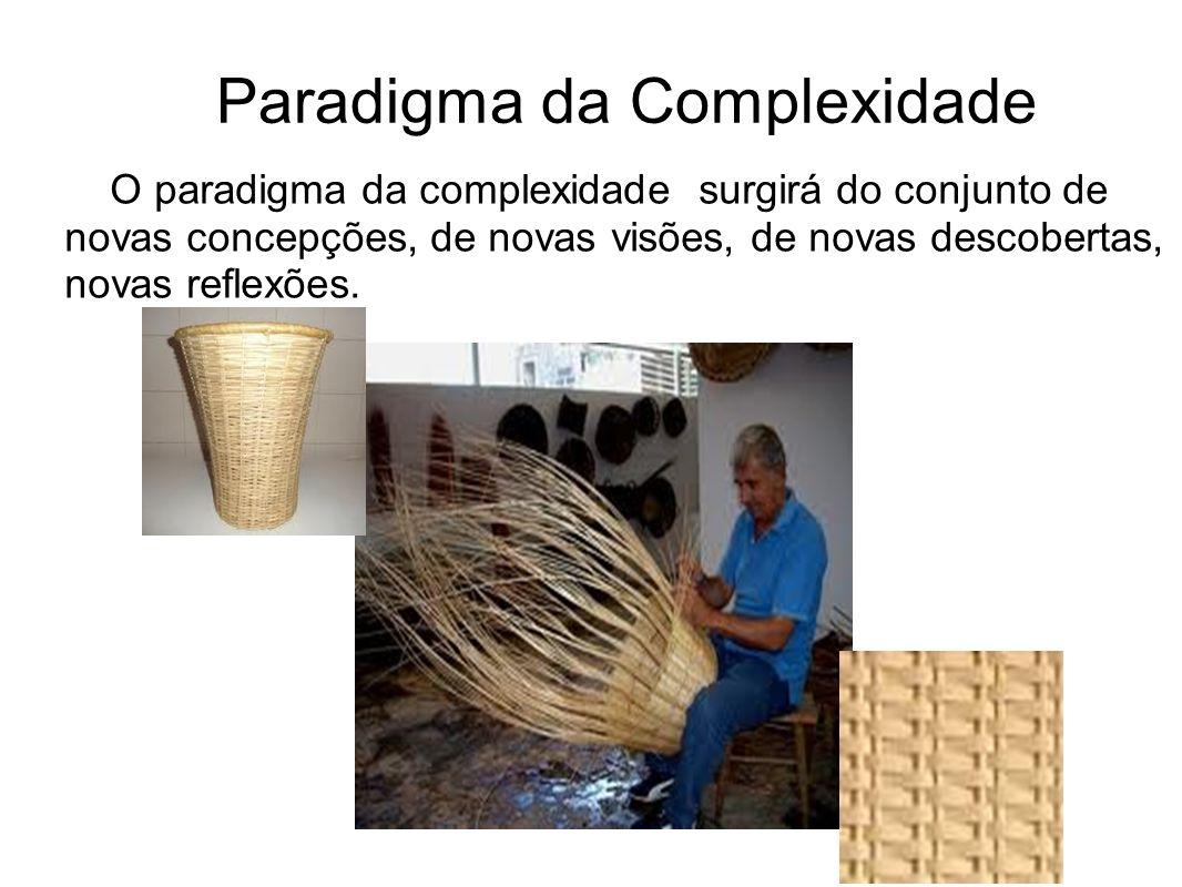 Paradigma da Complexidade O paradigma da complexidade surgirá do conjunto de novas concepções, de novas visões, de novas descobertas, novas reflexões.