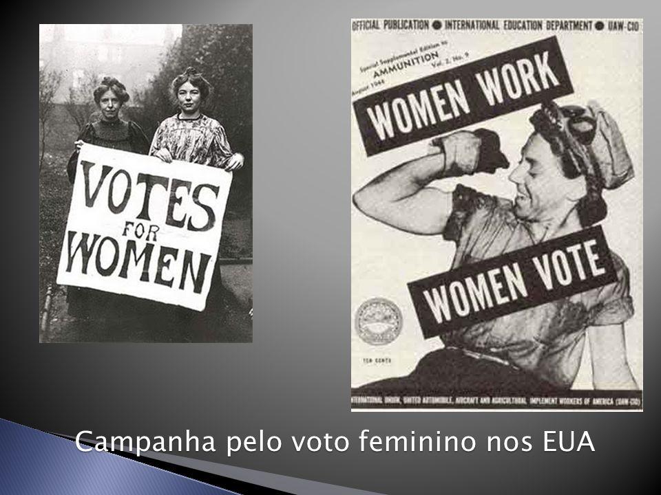 Campanha pelo voto feminino nos EUA
